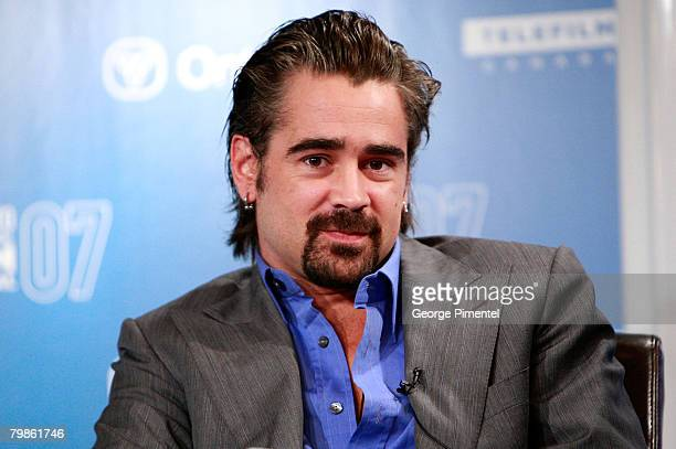 """Actor Colin Farrell at The 32nd Annual Toronto International Film Festival """"King of California"""" Press Conference at Sutton Place Hotel on September..."""