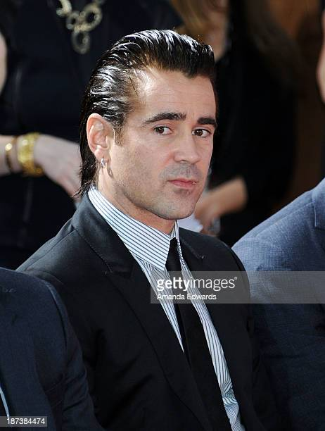 Actor Colin Farrell attends actress Emma Thompson's hand/footprint ceremony at AFI FEST 2013 Presented By Audi at TCL Chinese Theatre on November 7...