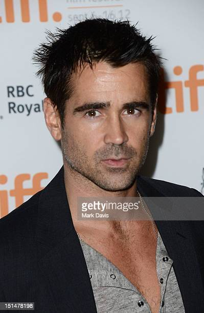 Actor Colin Farrell attends Seven Psychopaths premiere during the 2012 Toronto International Film Festival at Ryerson Theatre on September 7 2012 in...
