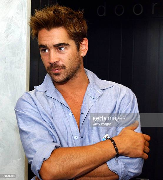 Actor Colin Farrell attends Special Olympics Global Youth Forum at the Helix Theatre in DCU on June 23 2003 in Dublin Ireland The Global Youth Summit...