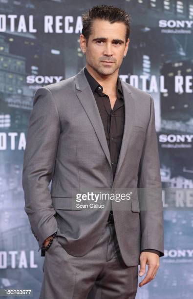 Actor Colin Farrell attends the Germany premiere of 'Total Recall' at Sony Center on August 13 2012 in Berlin Germany