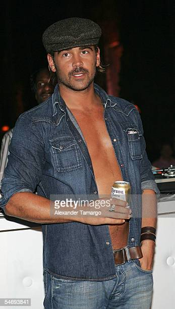 Actor Colin Farrell attends the 'Hurricane Katrina Relief Benefit' hosted by Jamie Foxx at the Delano Hotel on September 4, 2005 in Miami Beach,...