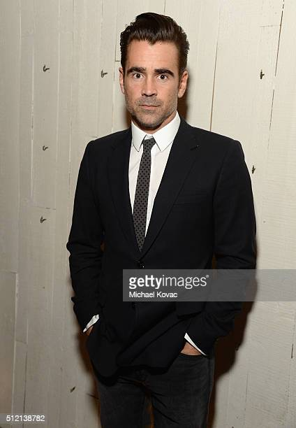 Actor Colin Farrell attends The Irish Film Board and IDA celebrating the success of Irish cinema at Laurel Hardware on February 24 2016 in West...