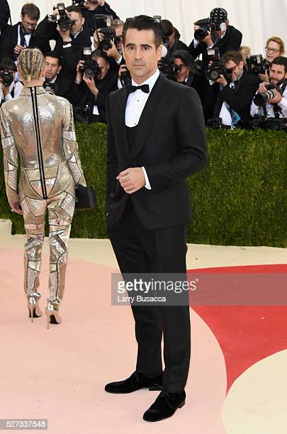 Actor Colin Farrell attends the 'Manus x Machina Fashion In An Age Of Technology' Costume Institute Gala at Metropolitan Museum of Art on May 2 2016...