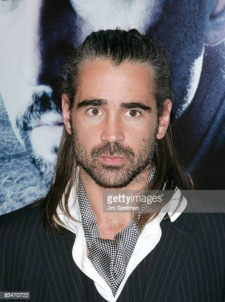 Actor Colin Farrell attends the Premiere for Pride and Glory at AMC Loews lincoln Square 13 on October 15 2008 in New York City