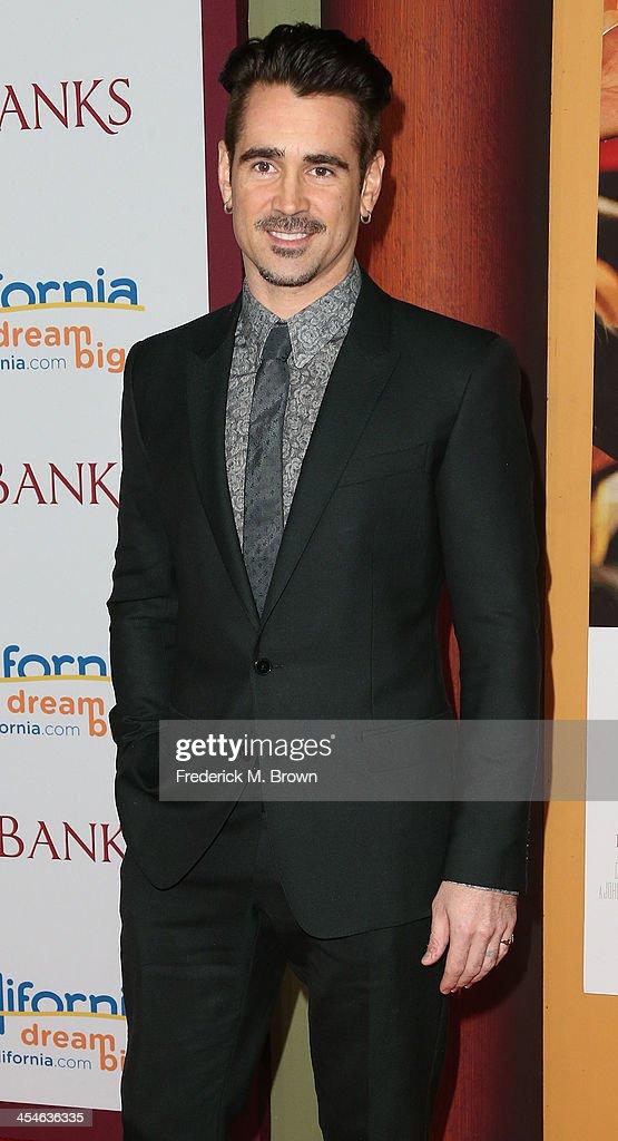 Actor Colin Farrell attends the Premiere of Disney's 'Saving Mr. Banks' at Walt Disney Studios on December 9, 2013 in Burbank, California.