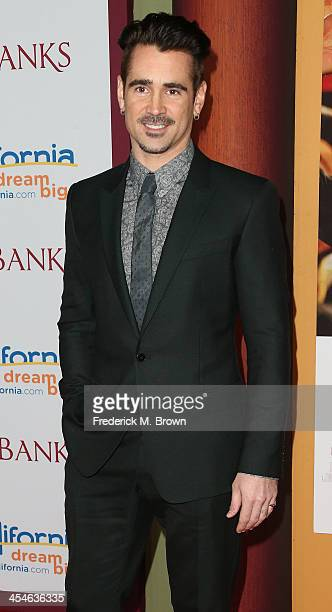 Actor Colin Farrell attends the Premiere of Disney's Saving Mr Banks at Walt Disney Studios on December 9 2013 in Burbank California