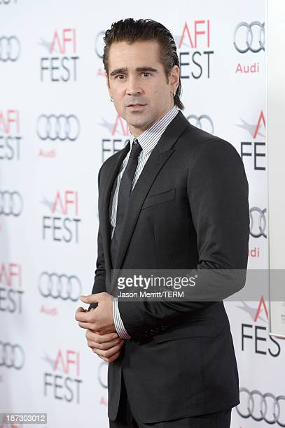 Actor Colin Farrell attends the premiere of Walt Disney Pictures' Saving Mr Banks during AFI FEST 2013 presented by Audi at TCL Chinese Theatre on...