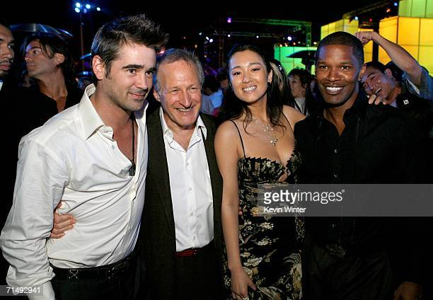 Actor Colin Farrell Director Michael Mann actress Gong Li and actor Jamie Foxx attend the after party for the Universal Pictures premiere of Miami...