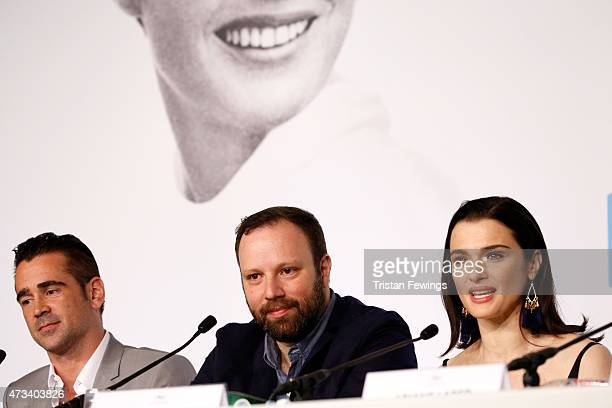 Actor Colin Farrell director Yorgos Lanthimos and actress Rachel Weisz attend the The Lobster press Conference during the 68th annual Cannes Film...