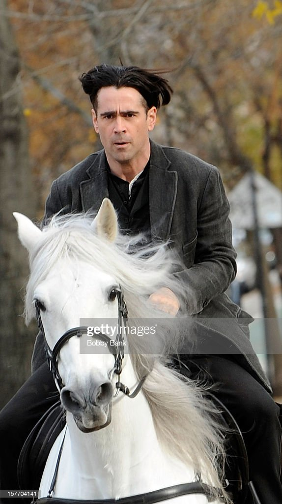 Actor Colin Farrell filming on location for 'Winter's Tale' on December 5, 2012 in the Brooklyn borough of New York City.