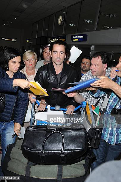 Actor Colin Farrell is seen at Nice airport during the 68th annual Cannes Film Festival on May 14 2015 in Cannes France