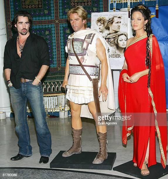 Actor Colin Farrell launches an 'Alexander The Great' interactive exhibit at Madame Tussauds November 23 2004 in New York City
