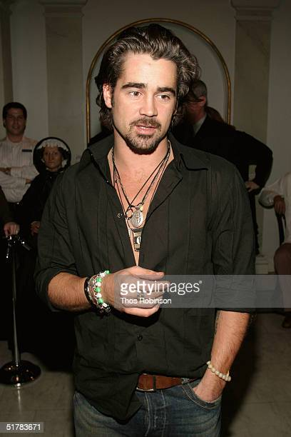 Actor Colin Farrell launches the new interactive Alexander experience at Madame Tussauds on November 23 2004 in New York City