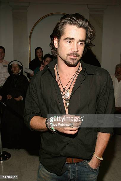 Actor Colin Farrell launches the new interactive 'Alexander' experience at Madame Tussauds on November 23 2004 in New York City