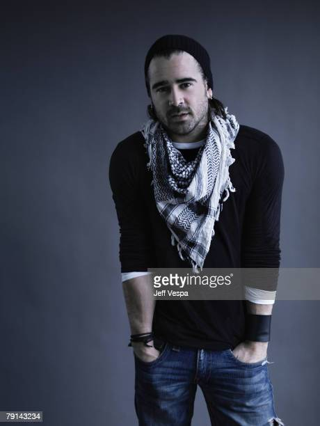 Actor Colin Farrell poses for a portrait shoot at the Suindance Film Festival in Park City Utah on January 18 2008
