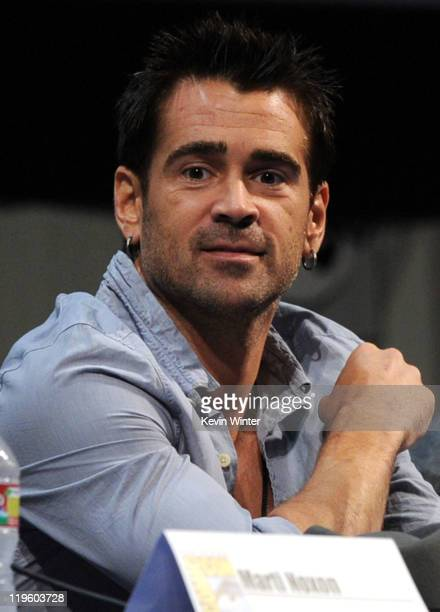 Actor Colin Farrell speaks at DreamWorks' Fright Night panel at San Diego Convention Center on July 22 2011 in San Diego California