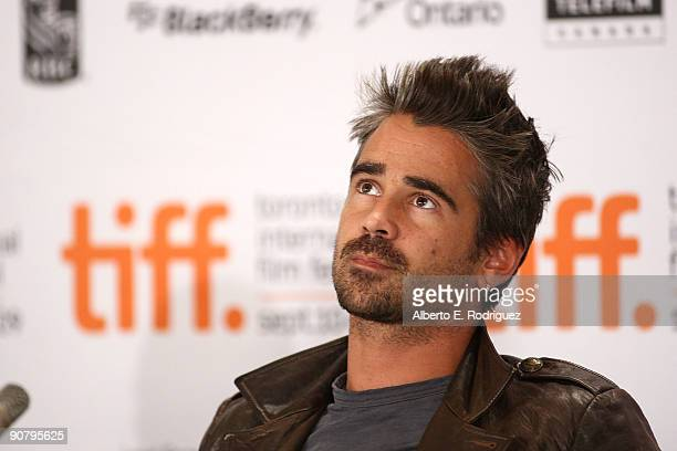 Actor Colin Farrell speaks onstage at the 'Ondine' press conference held at the Four Seasons Hotel on September 15 2009 in Toronto Canada