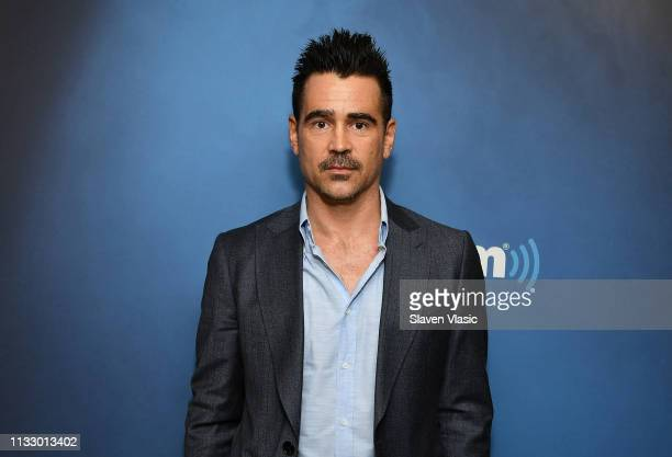Actor Colin Farrell visits Morning Mash Up at SiriusXM Studios on March 26, 2019 in New York City.