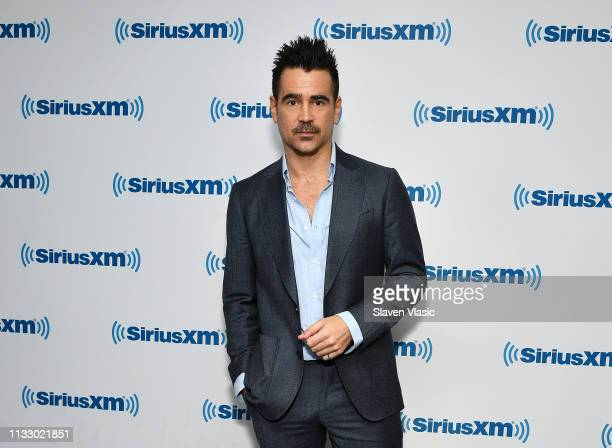 Actor Colin Farrell visits SiriusXM Studios on March 26, 2019 in New York City.