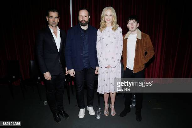 Actor Colin Farrell writer director and producer Yorgos Lanthimos actress Nicole Kidman and actor Barry Keoghan attend The Academy of Motion Picture...