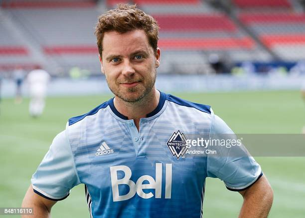 Actor Colin Ferguson poses for a picture during the Legends And Stars: Whitecaps FC Charity Alumni match at BC Place on September 16, 2017 in...