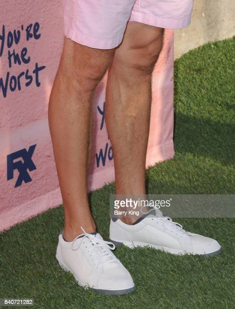 Actor Colin Ferguson shoe detail attends the premiere of FXX's 'You're The Worst' Season 4 at Museum of Ice Cream LA on August 29 2017 in Los Angeles...