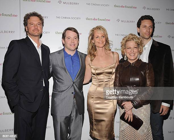 Actor Colin Firth actor Matthew Broderick Director/Actress Helen Hunt actress Bette Midler and actor Ben Shenkman attend the the New York Premiere of...
