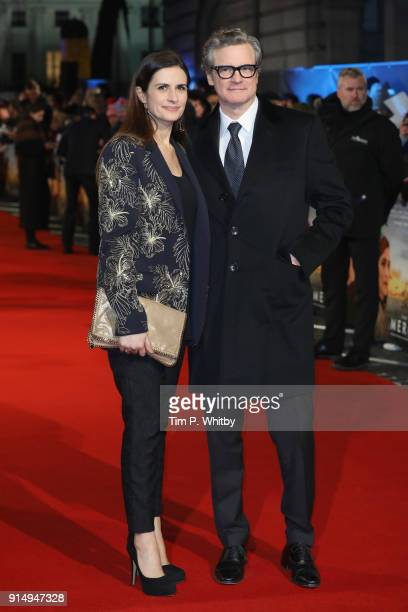 Actor Colin Firth and his wife Livia Firth attend 'The Mercy' World Premiere at The Curzon Mayfair on February 6 2018 in London England