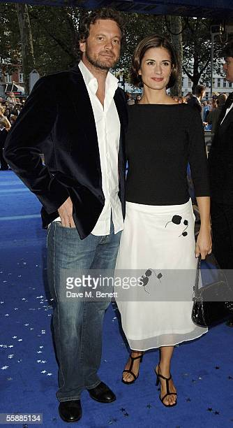 Actor Colin Firth and his wife Livia Giuggioli arrive at the The World Charity Premiere of Nanny McPhee in aid of The Refugee Council at the UCI...