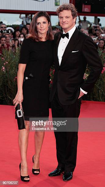 Actor Colin Firth and his wife Livia Giuggioli attend the Closing Ceremony Red Carpet And Inside at The Sala Grande during the 66th Venice Film...