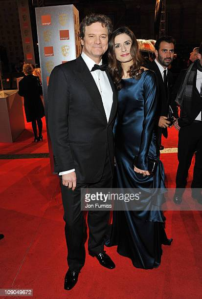 Actor Colin Firth and Livia Giuggioli attend the 2011 Orange British Academy Film Awards at The Royal Opera House on February 13 2011 in London...