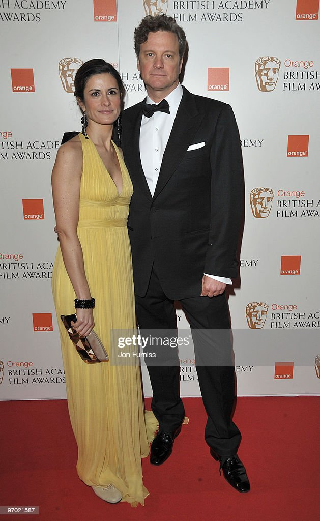 Actor Colin Firth and Livia Giuggioli attend the Orange British Academy Film Awards 2010 at the Royal Opera House on February 21, 2010 in London, England.