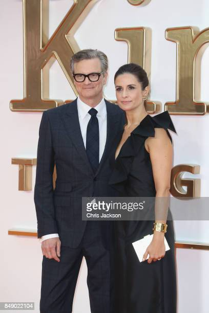 Actor Colin Firth and wife Livia Firth attend the 'Kingsman The Golden Circle' World Premiere held at Odeon Leicester Square on September 18 2017 in...