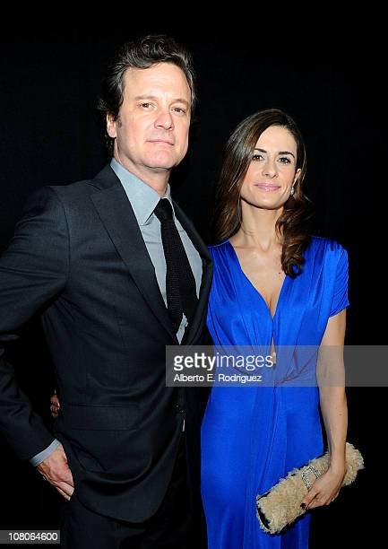 Actor Colin Firth and wife Livia Giuggioli arrive at the 36th Annual Los Angeles Film Critics Association Awards at the InterContinental Hotel on...