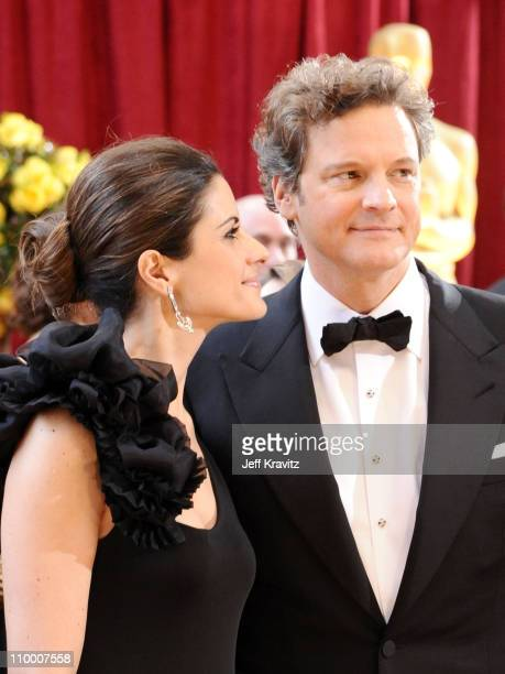 Actor Colin Firth and wife Livia Giuggioli arrive at the 82nd Annual Academy Awards held at the Kodak Theatre on March 7 2010 in Hollywood California