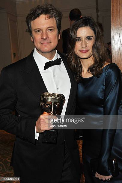 Actor Colin Firth and wife Livia Giuggioli attend the official after party for Orange British Academy Film Awards at Grosvenor House on February 13...