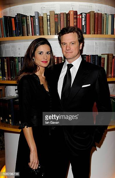 Actor Colin Firth and wife Livia Giuggioli attends the BFI preopening Gala Dinner hosted Greg Dyke during the 54th BFI London Film Festival at Asia...