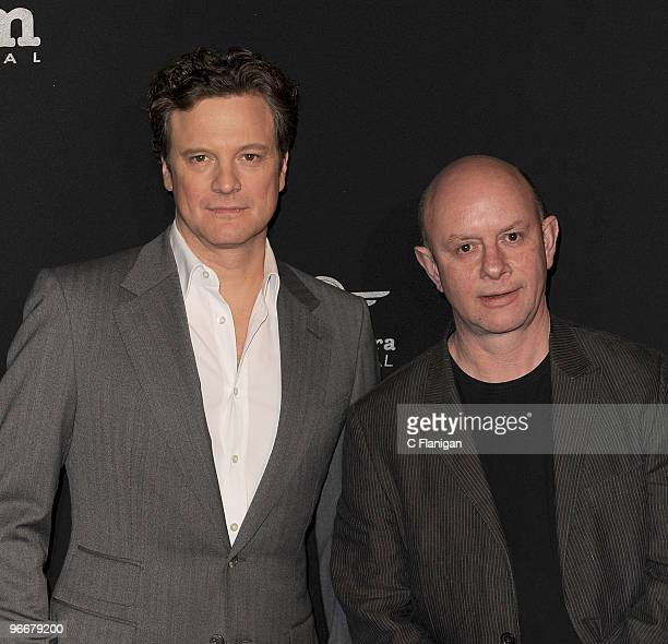 Actor Colin Firth and Writer Nick Hornby attend the Outstanding Performance of the Year Ceremony during the 2010 Santa Barbara International Film...