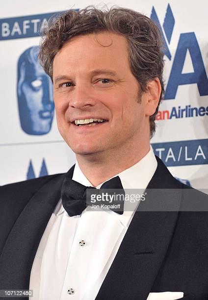 Actor Colin Firth arrives at the 18th Annual BAFTA/LA Britannia Awards at Hyatt Regency Century Plaza on November 5, 2009 in Century City, California.