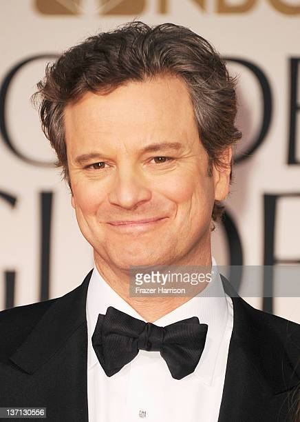 Actor Colin Firth arrives at the 69th Annual Golden Globe Awards held at the Beverly Hilton Hotel on January 15 2012 in Beverly Hills California
