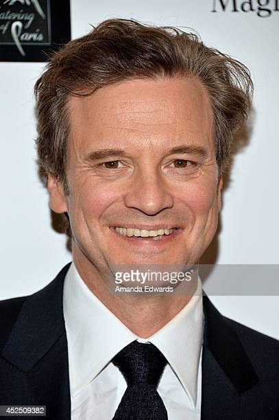 Actor Colin Firth arrives at the special Los Angeles screening of 'Magic In The Moonlight' at the Linwood Dunn Theater at the Pickford Center for...