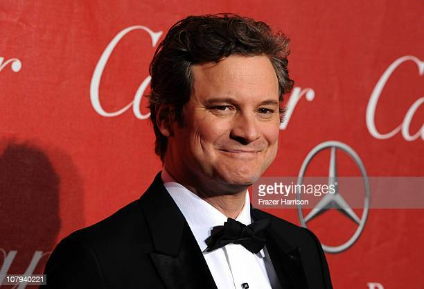 Actor Colin Firth arrives at the2011 Palm Springs International Film Festival Awards Gala at the palm Spring Convention Centre on January 8, 2011 in...