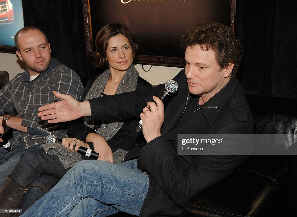 Actor Colin Firth (R) at the Hollywood Life House on January 21, 2008 in Park City, Utah.