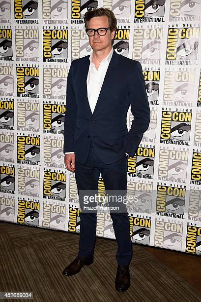 Actor Colin Firth attends 20th Century Fox Press Line during Comic-Con International 2014 at Hilton Bayfront on July 25, 2014 in San Diego,...