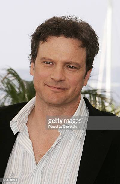 """Actor Colin Firth attends a photocall promoting the film """"Where the Truth Lies"""" at the Palais during the 58th International Cannes Film Festival May..."""