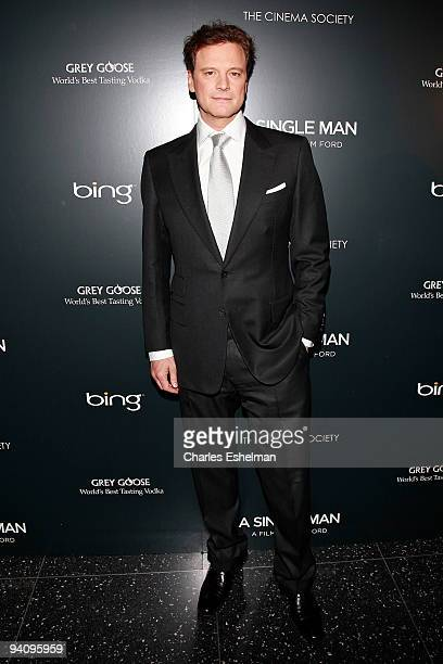 Actor Colin Firth attends a screening of A Single Man hosted by the Cinema Society and Tom Ford at The Museum of Modern Art on December 6 2009 in New...