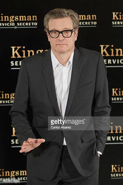 Actor Colin Firth attends 'Kingsman Servicio secreto' photocall at the Villamagna Hotel on February 6 2015 in Madrid Spain