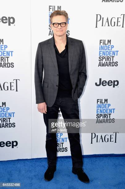 Actor Colin Firth attends the 2017 Film Independent Spirit Awards at the Santa Monica Pier on February 25 2017 in Santa Monica California