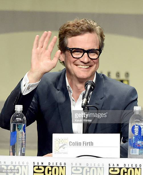 Actor Colin Firth attends the 20th Century Fox presentation during ComicCon International 2014 at San Diego Convention Center on July 25 2014 in San...